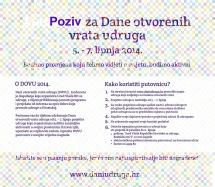 Dani otvorenih vrata udruga 2014.