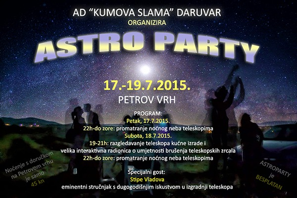Astro Party Petrov vrh 17.-19.7.2015.